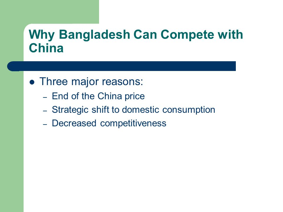 Why Bangladesh Can Compete with China
