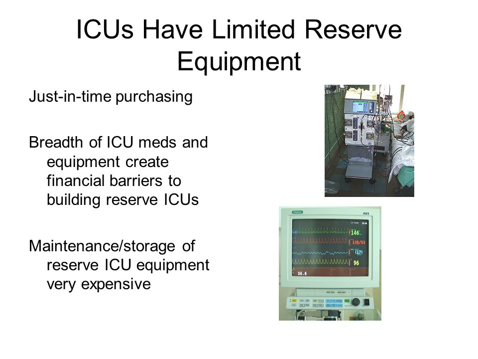 ICUs Have Limited Reserve Equipment