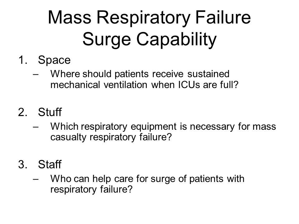 Mass Respiratory Failure Surge Capability