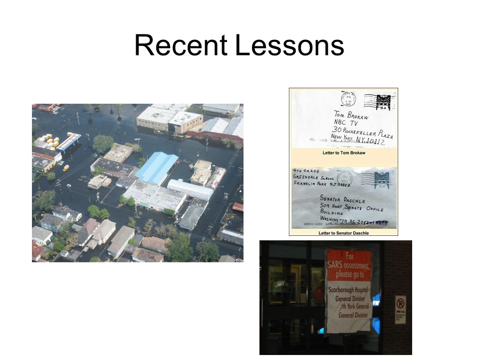 Recent Lessons