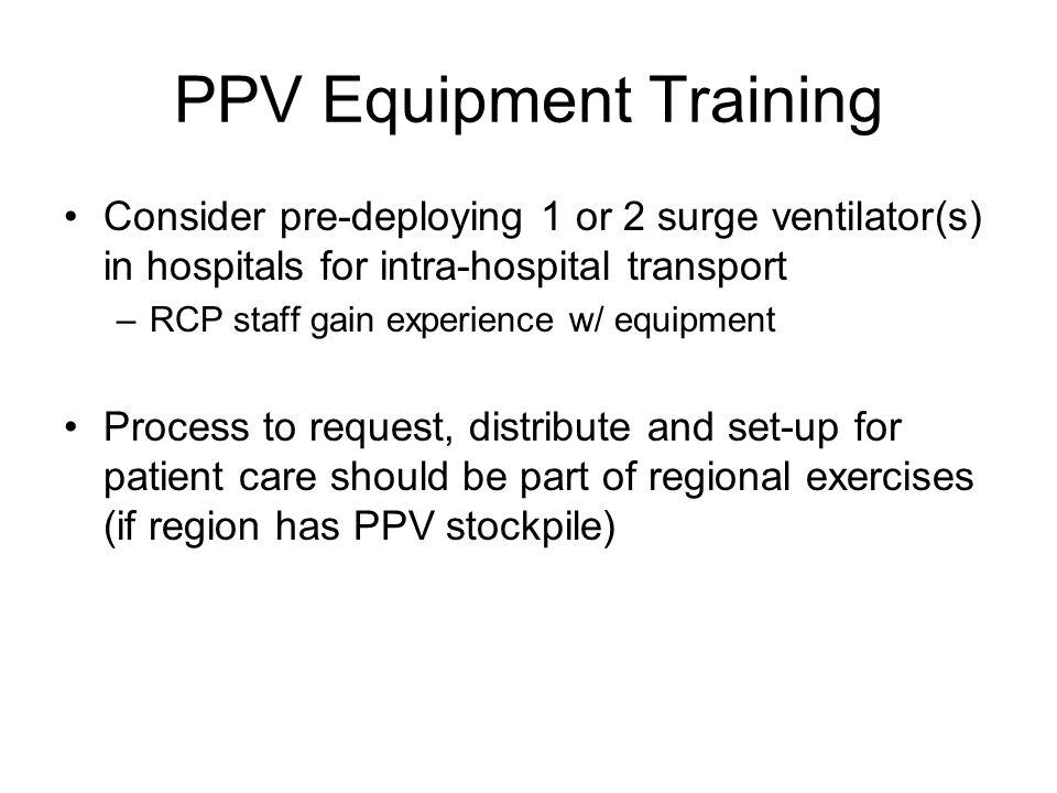 PPV Equipment Training
