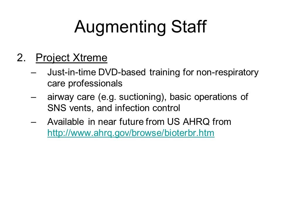 Augmenting Staff Project Xtreme