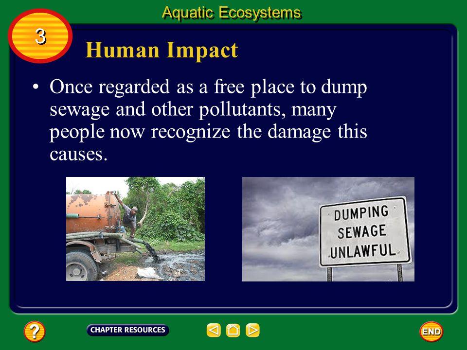 Aquatic Ecosystems 3. Human Impact.