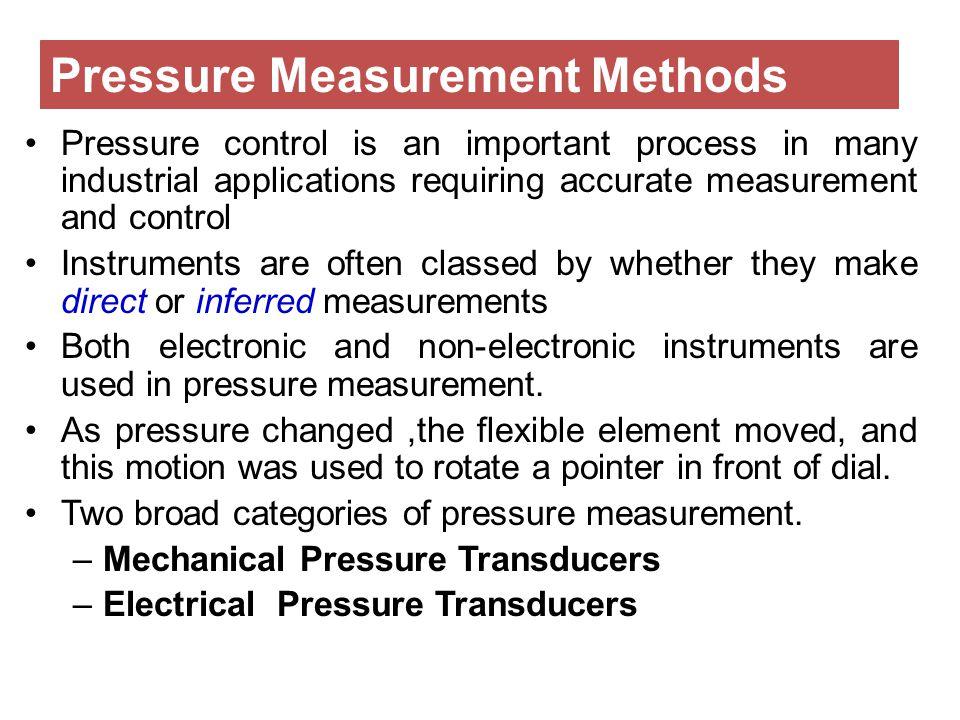 Pressure Measurement Methods