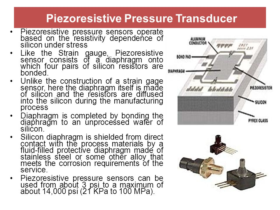 Piezoresistive Pressure Transducer