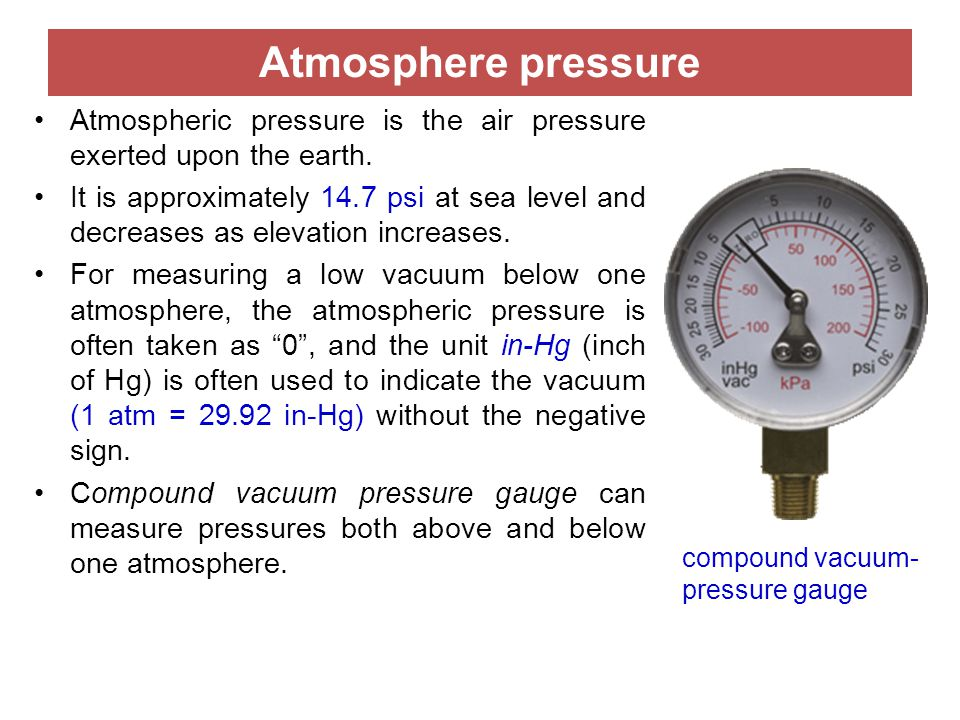Air Pressure Units : Lecture pressure sensors ppt video online download