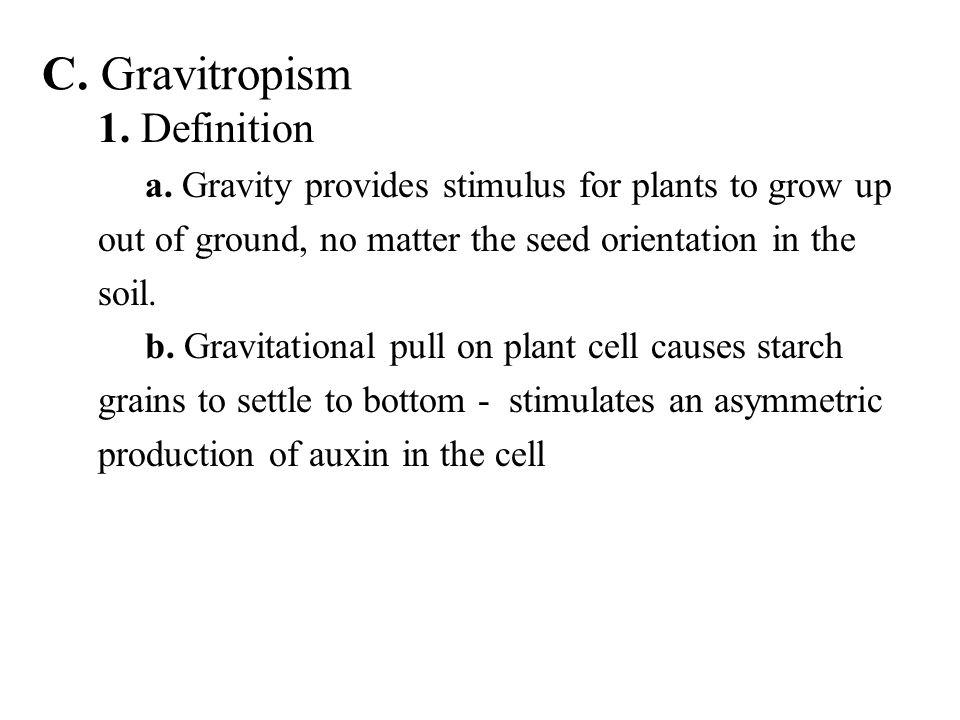 C. Gravitropism 1. Definition