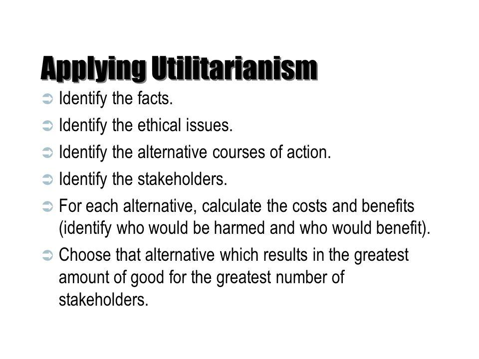 Applying Utilitarianism