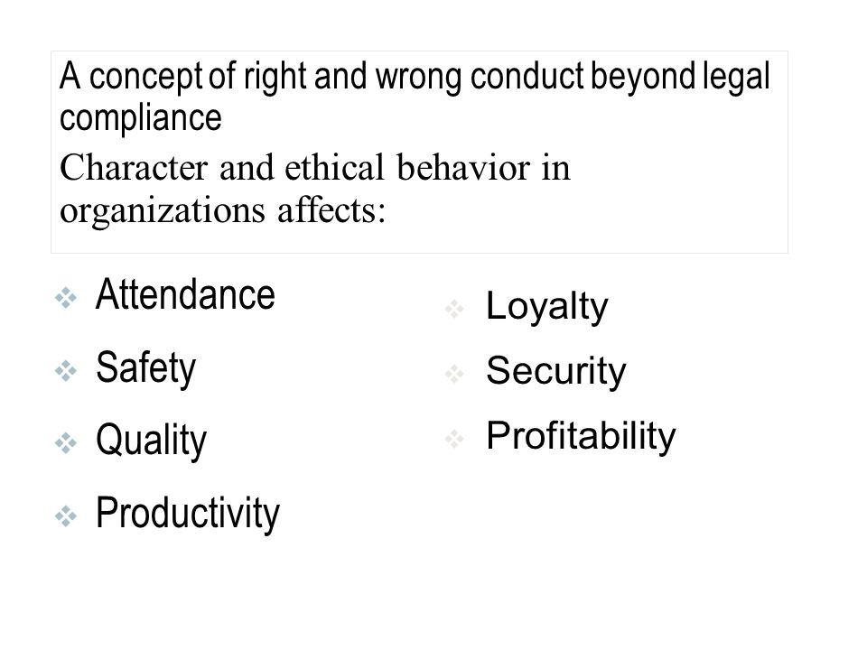 Attendance Safety Quality Productivity