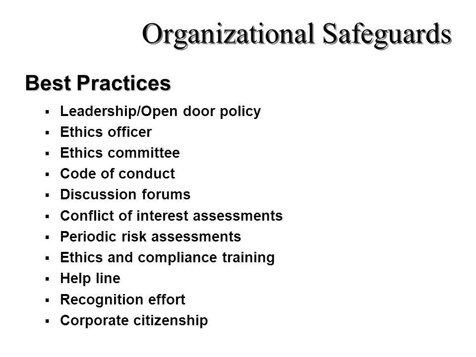 Organizational Safeguards