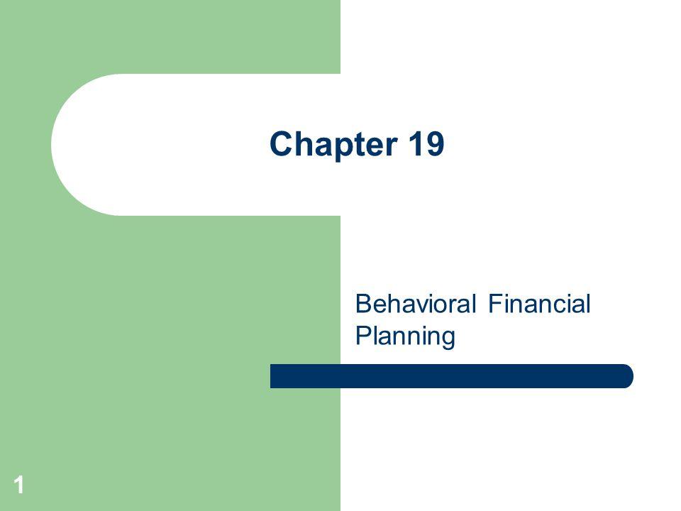 Behavioral Financial Planning