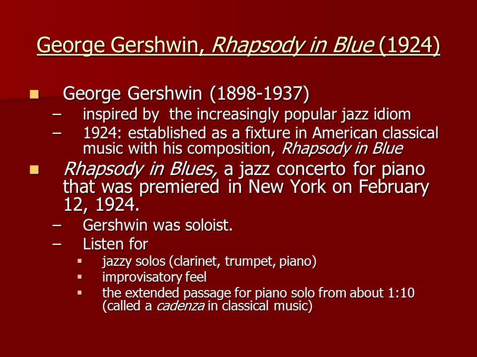 George Gershwin, Rhapsody in Blue (1924)