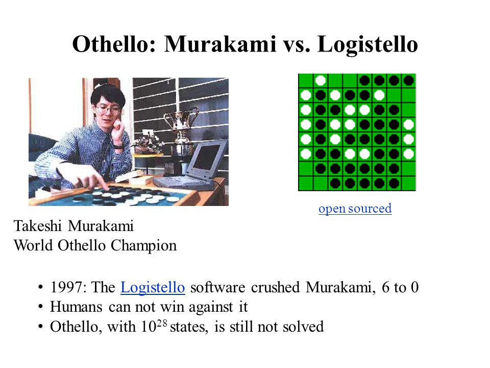 Othello: Murakami vs. Logistello