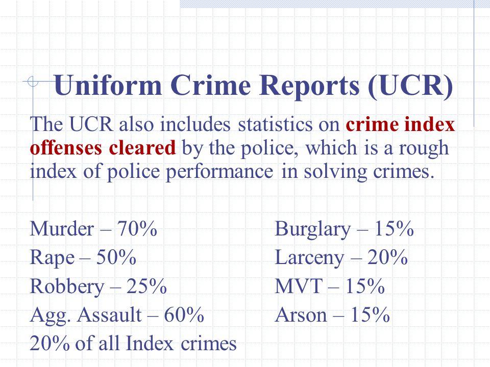 Uniform Crime Reports (UCR)