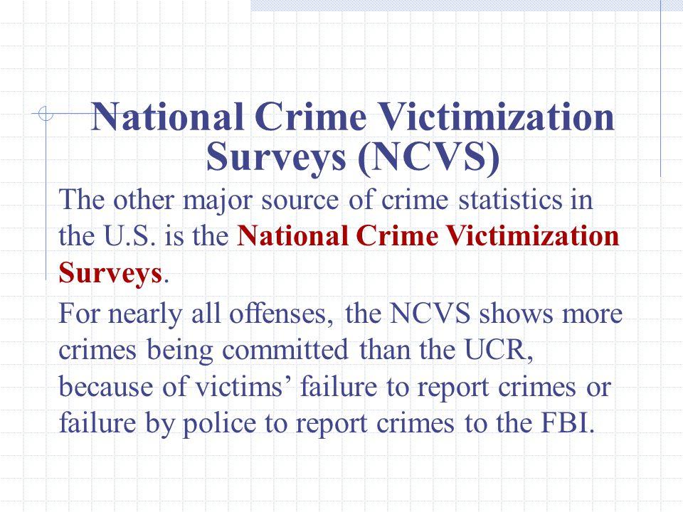 National Crime Victimization Surveys (NCVS)