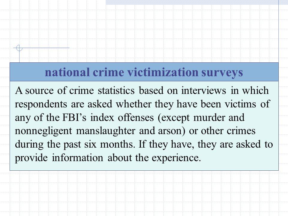 national crime victimization surveys