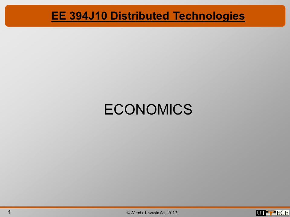 EE 394J10 Distributed Technologies