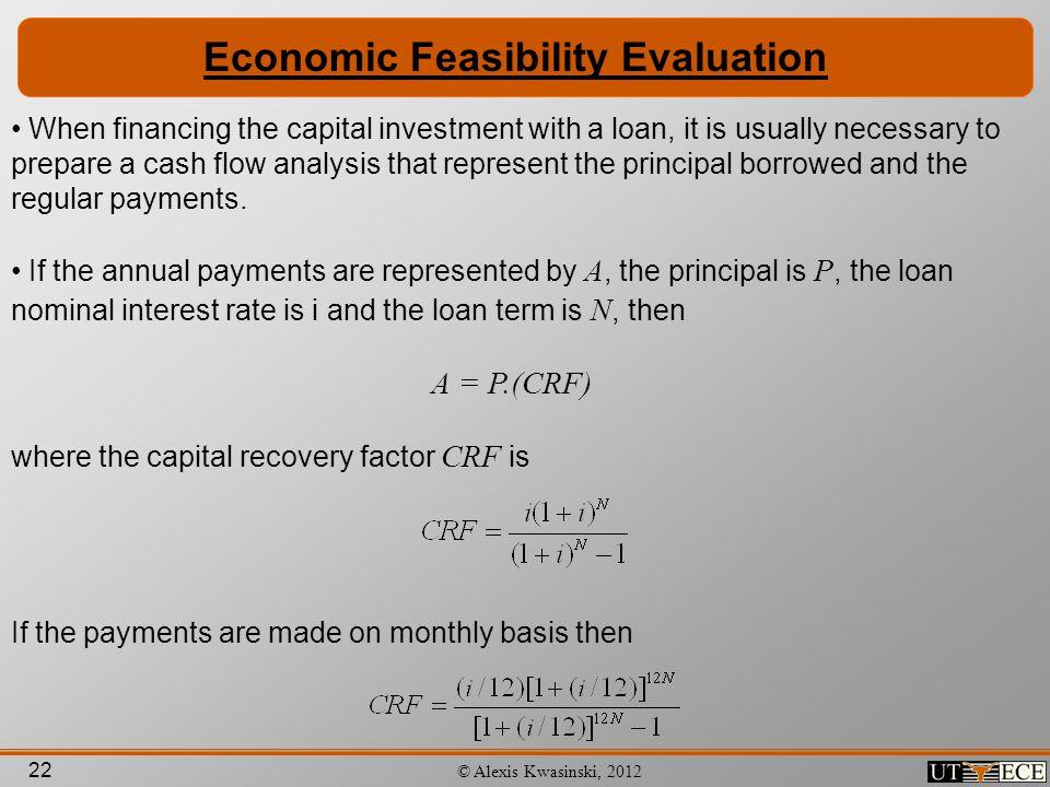 Economic Feasibility Evaluation