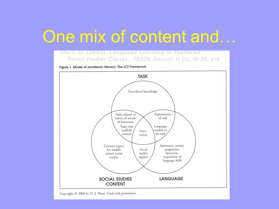 One mix of content and…