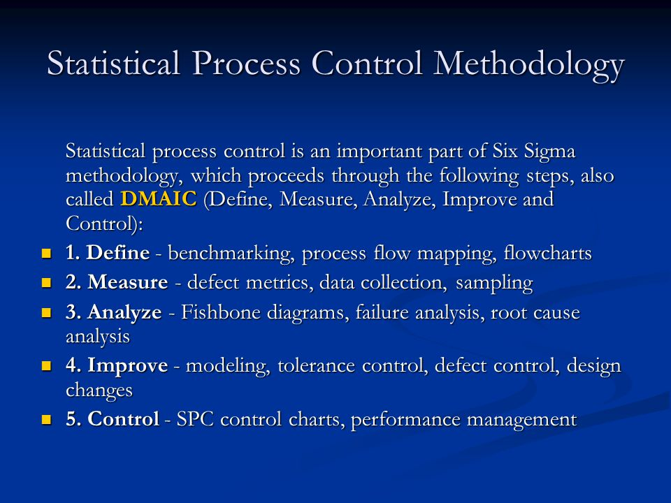 Statistical Process Control Methodology