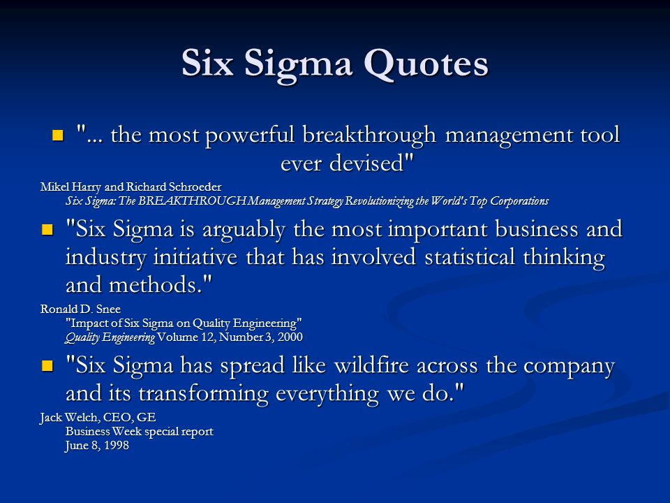 ... the most powerful breakthrough management tool ever devised
