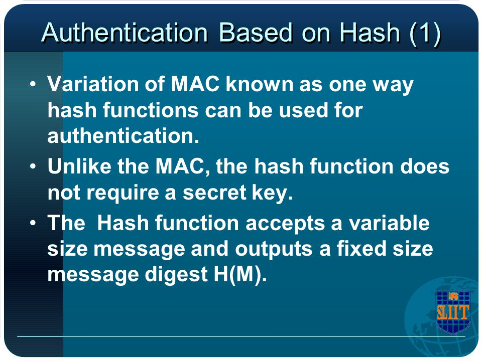 Authentication Based on Hash (1)