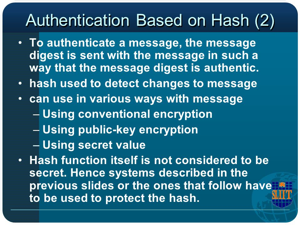 Authentication Based on Hash (2)