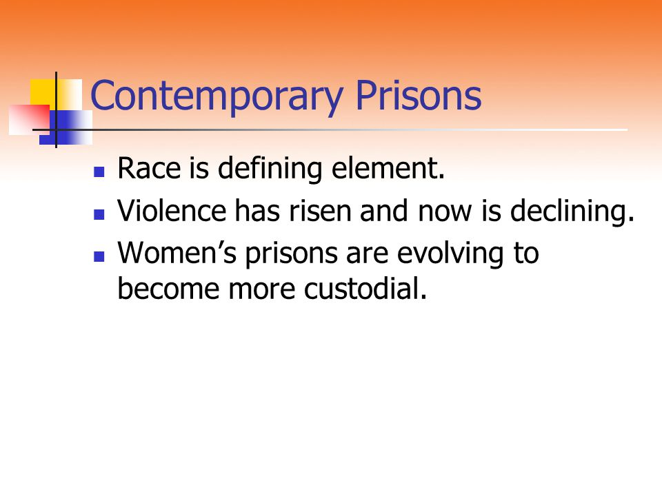 Contemporary Prisons Race is defining element.