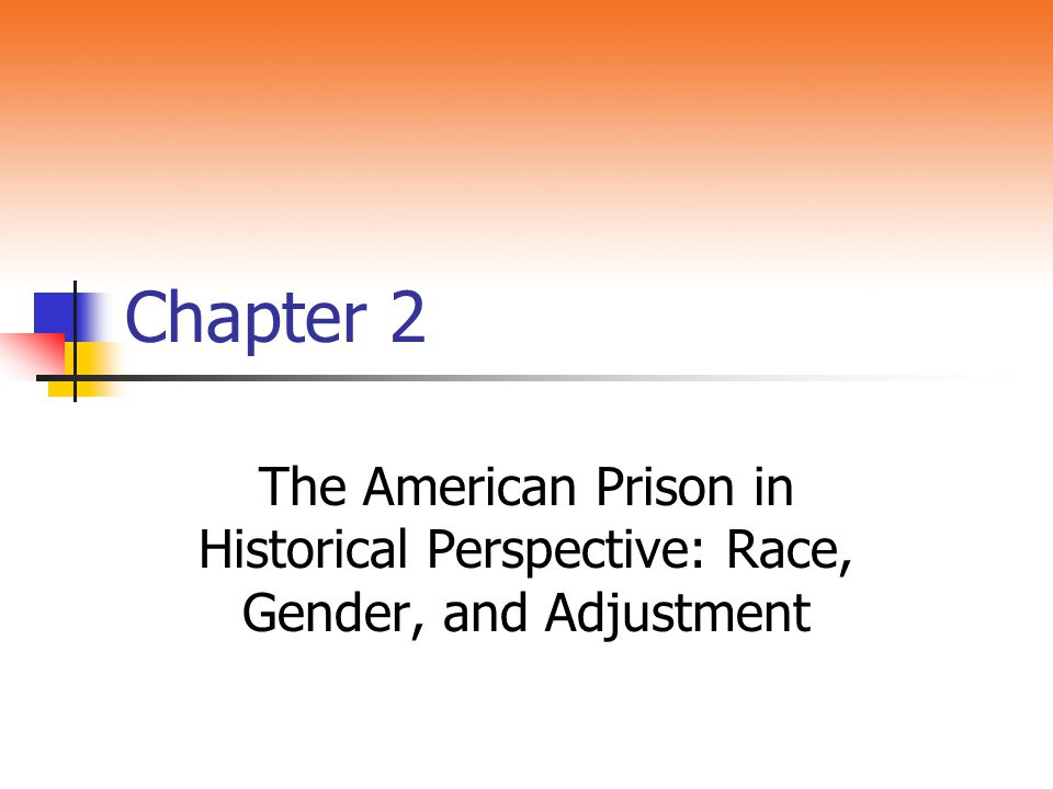 Chapter 2 The American Prison in Historical Perspective: Race, Gender, and Adjustment