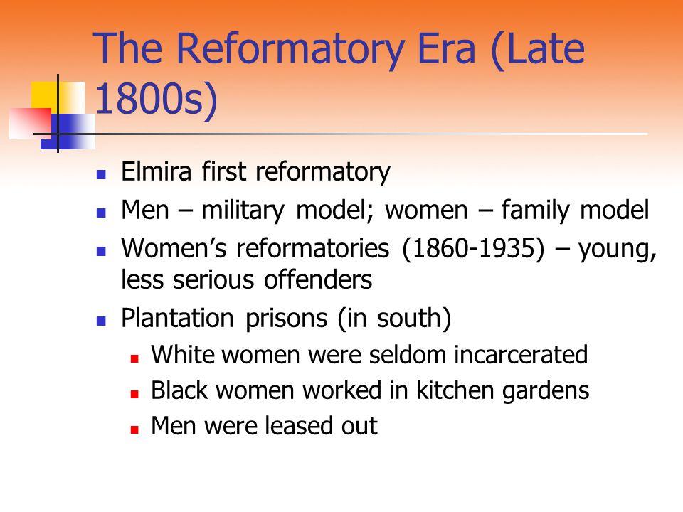 The Reformatory Era (Late 1800s)