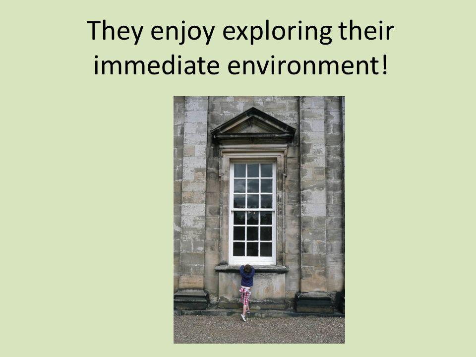 They enjoy exploring their immediate environment!