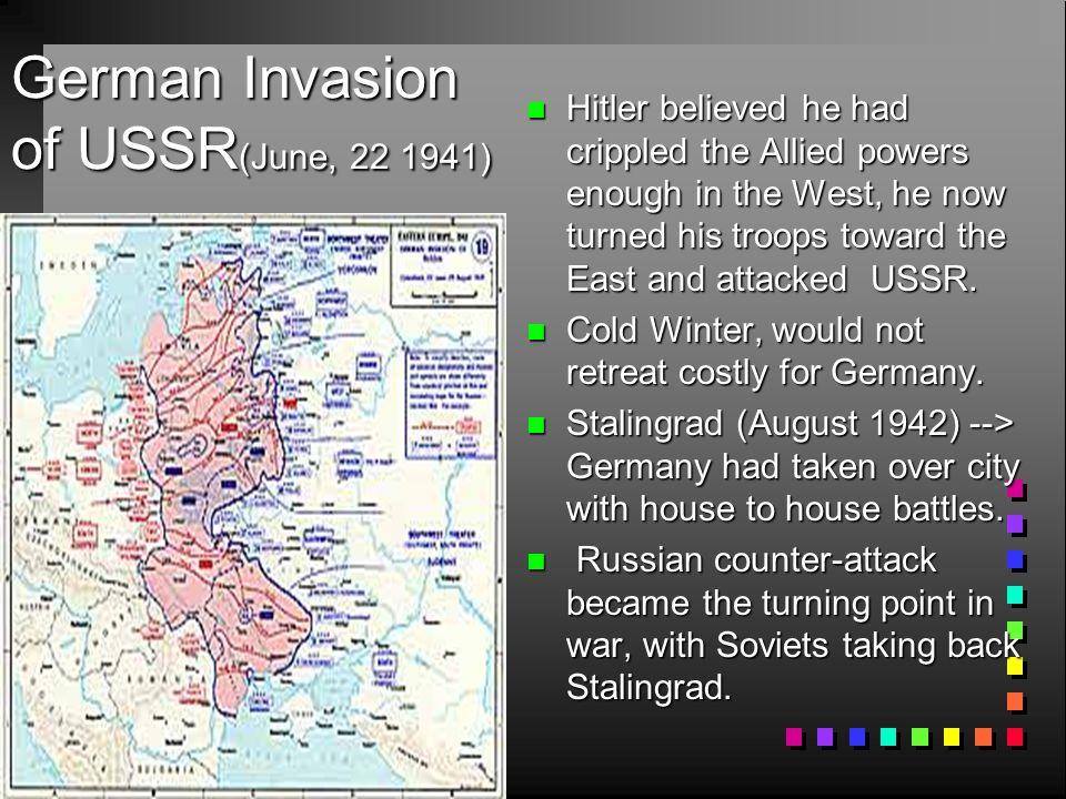 German Invasion of USSR(June, 22 1941)