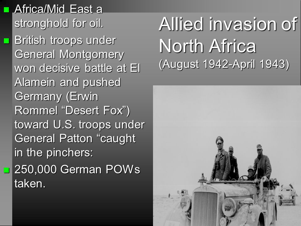 Allied invasion of North Africa (August 1942-April 1943)