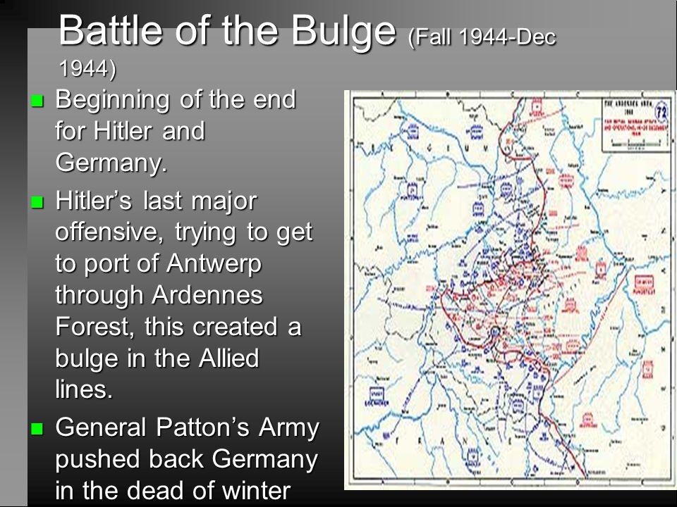 Battle of the Bulge (Fall 1944-Dec 1944)