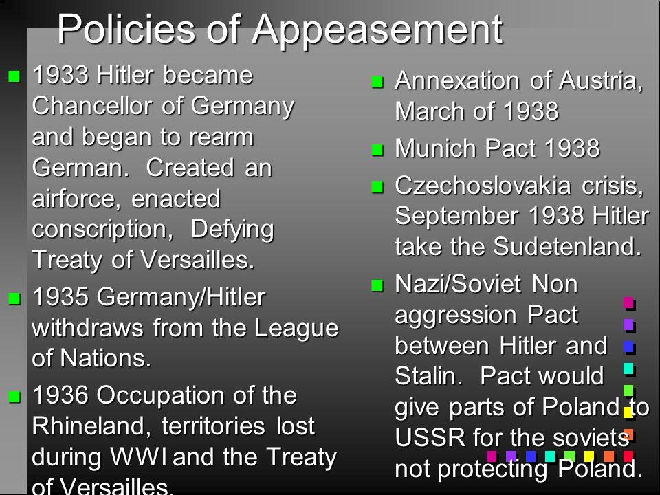 Policies of Appeasement