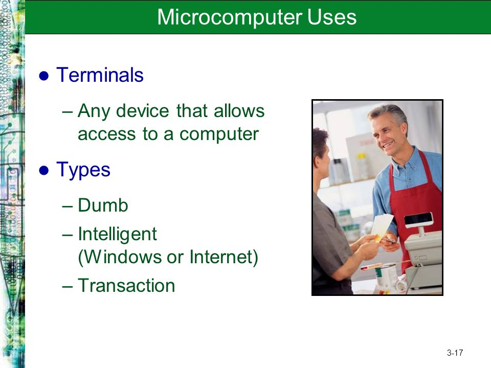 Microcomputer Uses Terminals Types