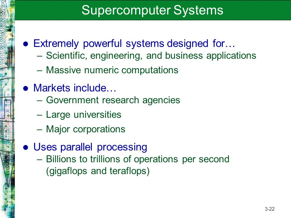 Supercomputer Systems