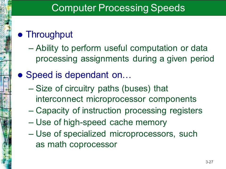 Computer Processing Speeds