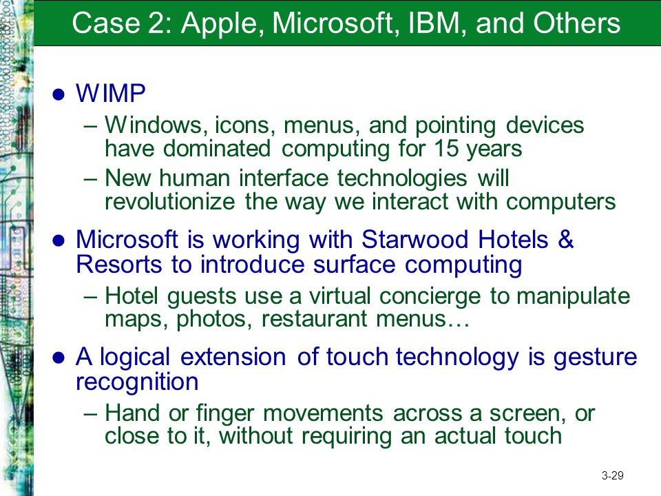 Case 2: Apple, Microsoft, IBM, and Others