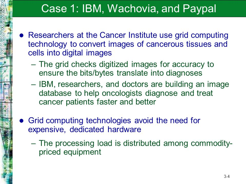 Case 1: IBM, Wachovia, and Paypal