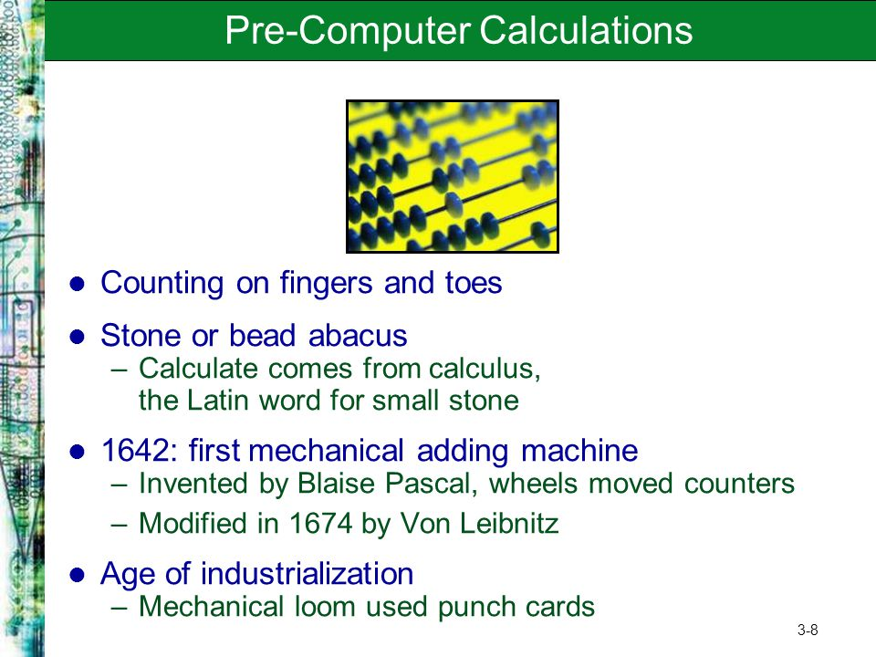 Pre-Computer Calculations