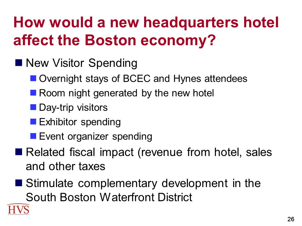 How would a new headquarters hotel affect the Boston economy
