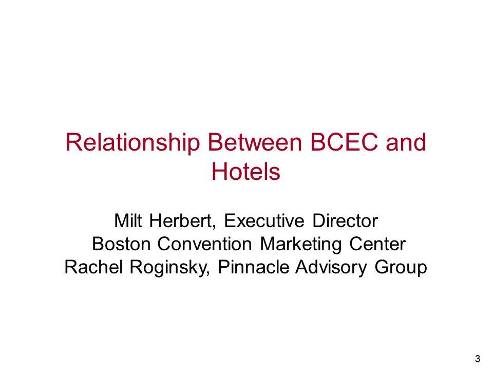 Relationship Between BCEC and Hotels