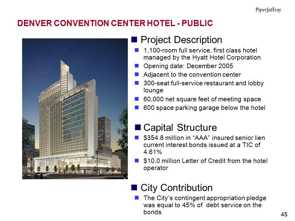 DENVER CONVENTION CENTER HOTEL - PUBLIC