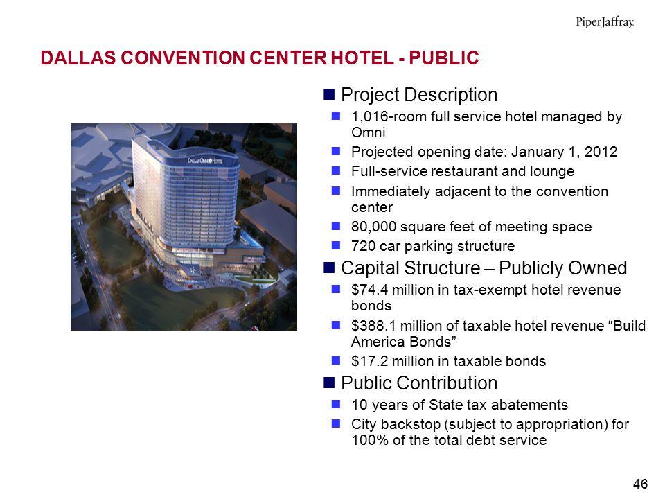 DALLAS CONVENTION CENTER HOTEL - PUBLIC