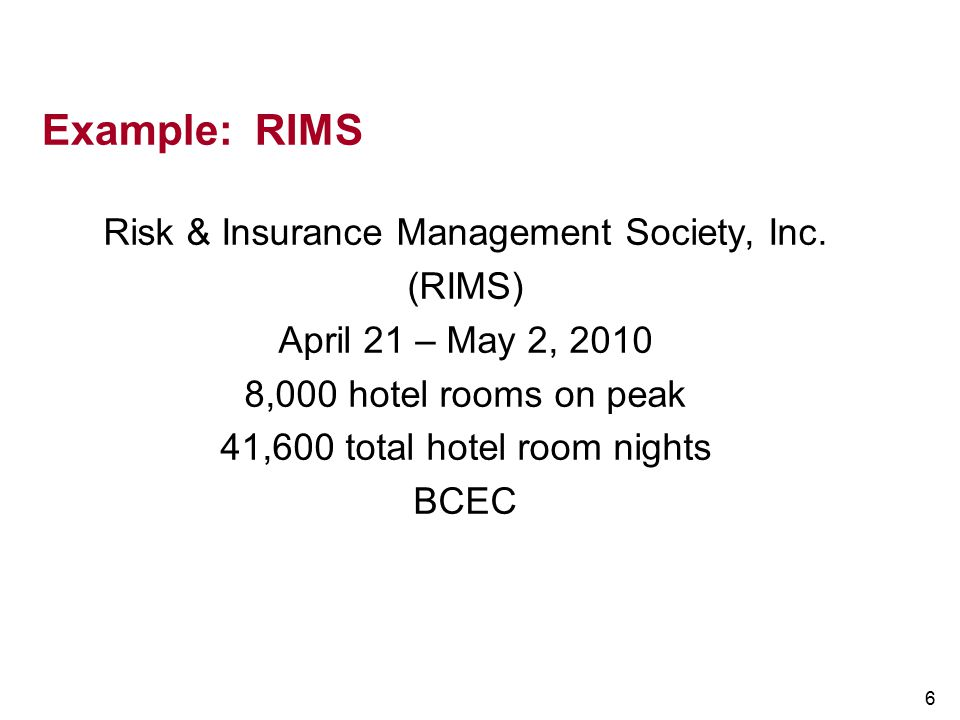 Example: RIMS Risk & Insurance Management Society, Inc. (RIMS)