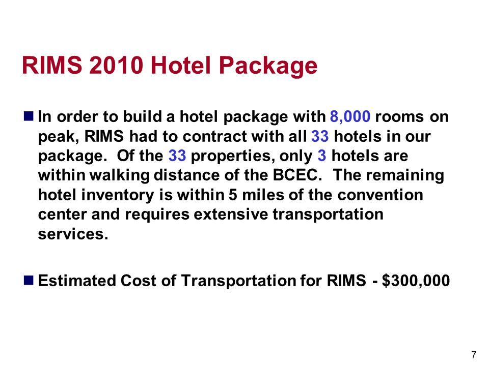 RIMS 2010 Hotel Package