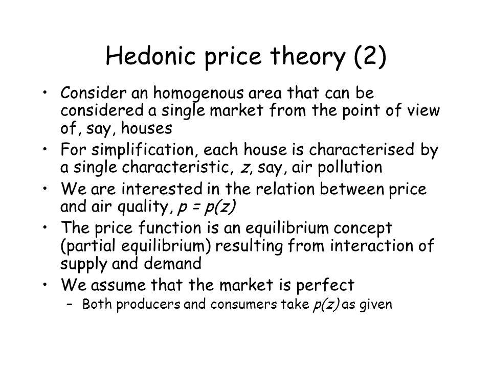Hedonic price theory (2)