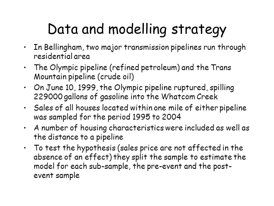 Data and modelling strategy