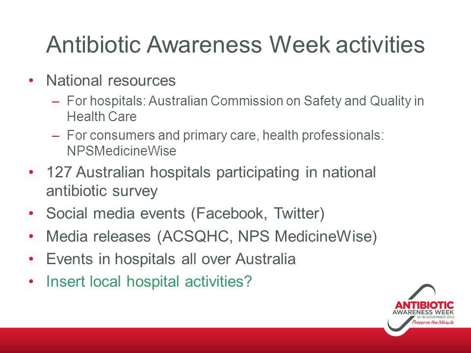 Antibiotic Awareness Week activities